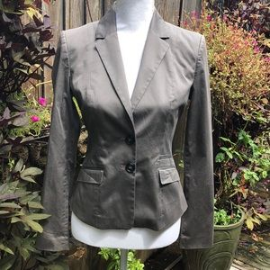 H&M Gray Fitted Blazer Size 6   D144